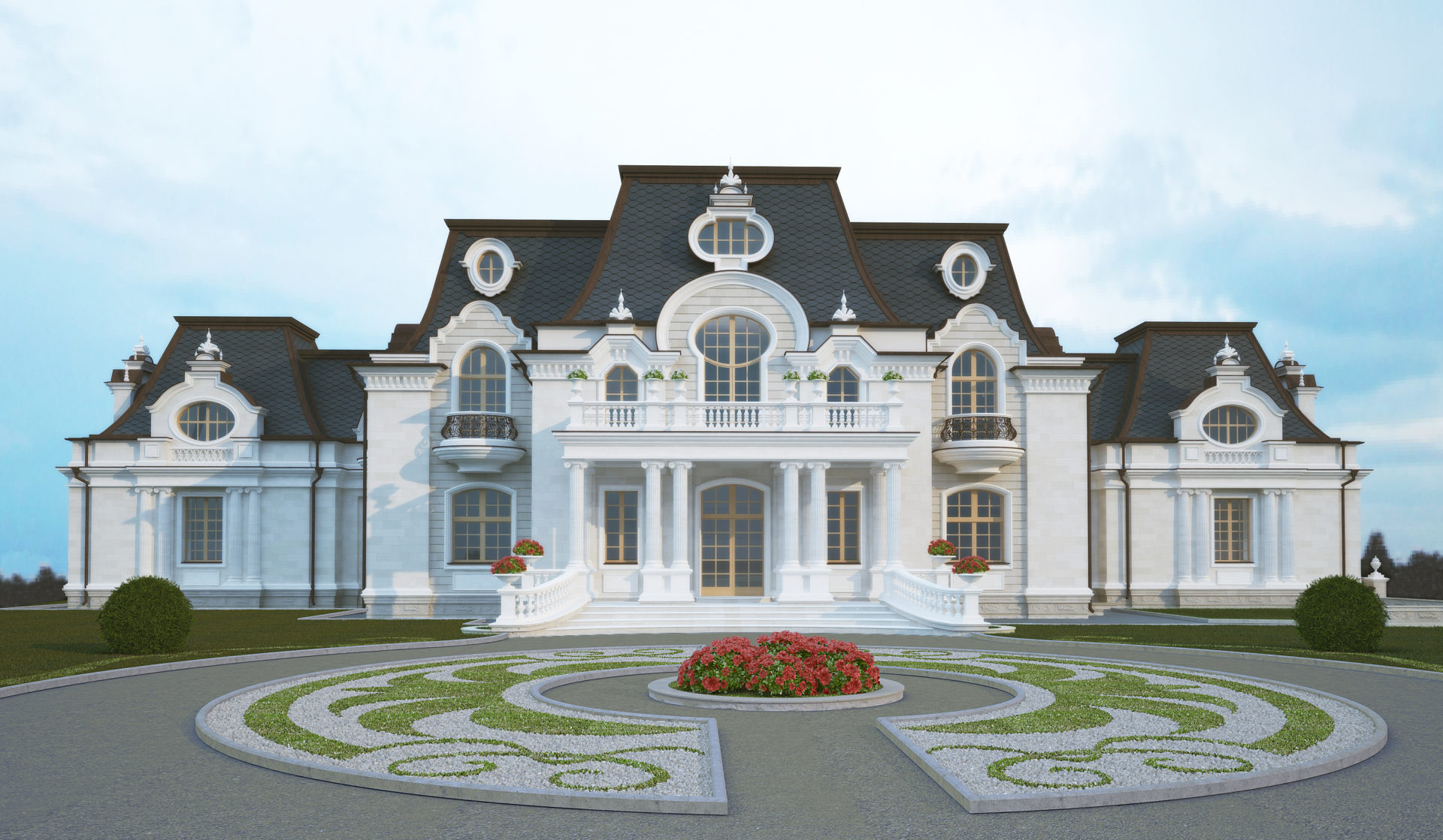 Residence project in Neo-Baroque style v.Lisnyki